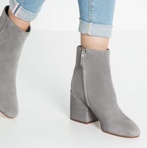 Sam Edelman gray suede Taye booties